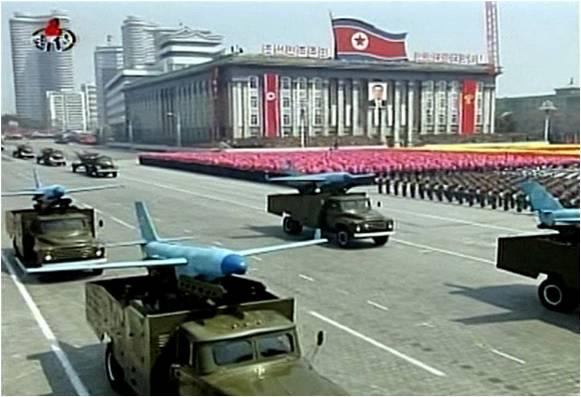 Parata della flotta di droni nord coreani