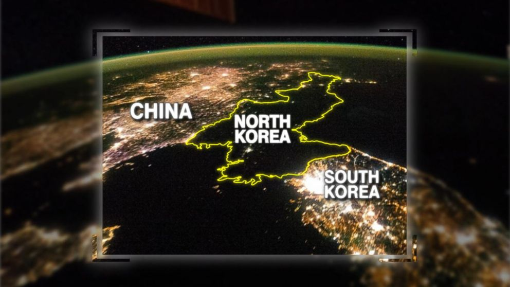 Corea del Nord dal satellite: la connettività potrebbe sembrare così