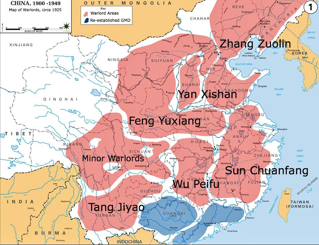 china map 1925