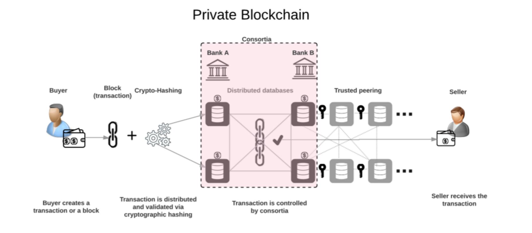 permissioned blockchain, private